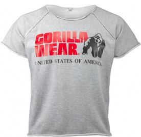 Gorilla Wear Pánské tričko s krátkým rukávem Classic Work Out Top Gray