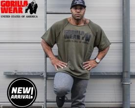 Gorilla Wear Pánské tričko s krátkým rukávem Classic Work Out Top Army Green