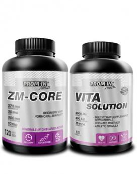 Prom-in ZM-Core 120 kapslí + Vita Solution 60 tablet za zvýhodněnou cenu