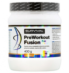 Survival PreWorkout Fusion Fair Power 400 g - pomeranč PROŠLÉ DMT