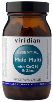 Viridian Essential Male Multi with CoQ10 + Zinc 90 kapslí