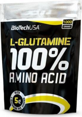 BiotechUSA 100% L-Glutamine 1000 g VÝPRODEJ (pošk. obal)