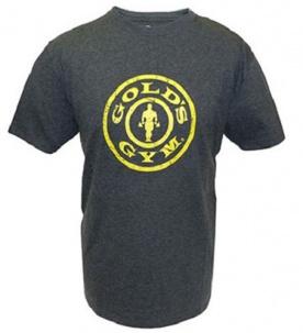 Gold's Gym Pánské tričko Plate Logo tmavě šedé