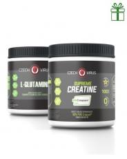 Czech Virus Supreme Creatine Creapure 500 g + L-Glutamine 250 g za zvýhodněnou cenu
