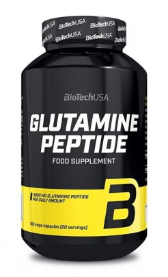 BiotechUSA Glutamine Peptide 180 kapslí