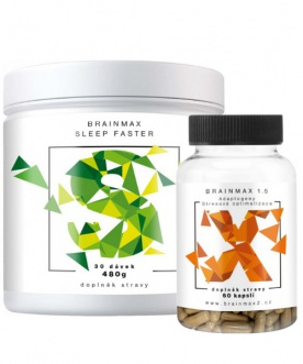 Brainmax Sleep Faster 480g + Adaptogenic Hegemony 1.5 60 kapslí VÝHODNÝ BALÍČEK