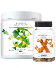 Votamax Brainmax Sleep Faster 450g + Adaptogenic Hegemony 1.5 60 kapslí VÝHODNÝ BALÍČEK