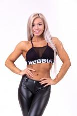 Nebbia Mesh sport bra burgundy 692
