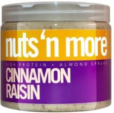 Nuts 'N More Mandlové máslo skořice-rozinka s proteinem 454 g