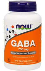 Now Foods Gaba 750 mg 100 rostlinných kapslí
