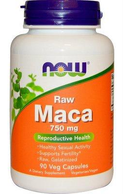 Now Foods Raw Maca 750 mg 90 rostlinných kapslí