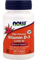 Now Foods Vitamin D3 2000 IU 240 kapslí
