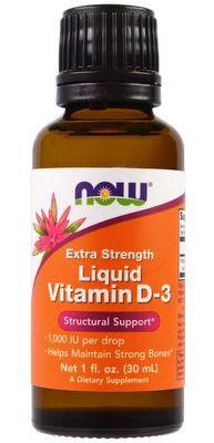 Now Foods Tekutý Vitamín D3 Extra Strength 30 ml