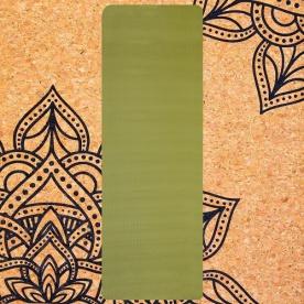 Spokey SAVASANA jóga podložka na cvičení korková 4 mm - zelená