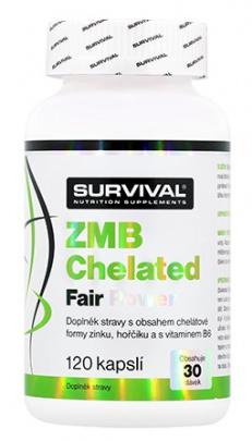Survival ZMB Chelated Fair Power 120 kapslí VÝPRODEJ