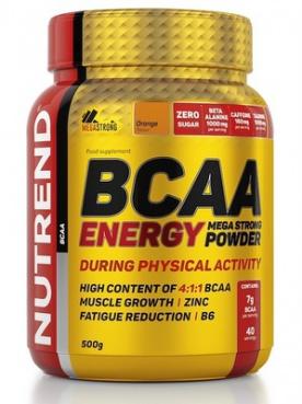 Nutrend BCAA Energy Mega Strong Powder 500 g - pomeranč VÝPRODEJ