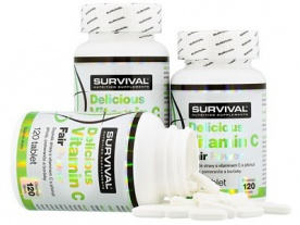 Survival Delicious Vitamin C Fair Power 120 tablet VÝPRODEJ