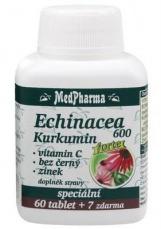 MedPharma Echinacea 600 Forte + kurkumin + vit. C + bez černý + zinek 67 tablet