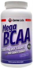 Carne Labs Mega BCAA 2100mg 100 tablet PROŠLÉ DMT 2.5.2021