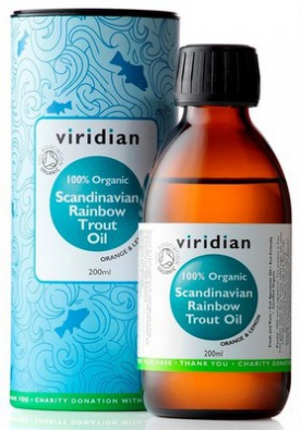 Viridian Scandinavian Rainbow Trout Oil 200ml Organic