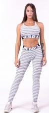 Nebbia Boho Style 3D pattern mini top 659 světle šedá