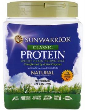 Sunwarrior Protein Classic 375 g - bez příchuti VÝPRODEJ