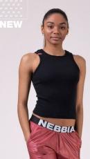 Nebbia Sports NEBBIA Labels crop top 516 black