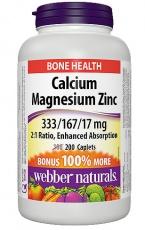 Webber Naturals Calcium Magnesium Zinc 200 kapslí