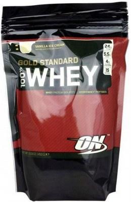 Optimum Nutrition 100% Whey Gold Standard 450 g - vanilka VÝPRODEJ (POŠK.OBAL)