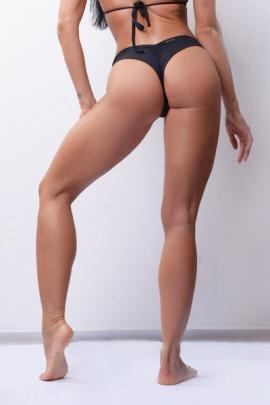 Nebbia plavky Brasil scrunch butt bikini spodní díl černý 632