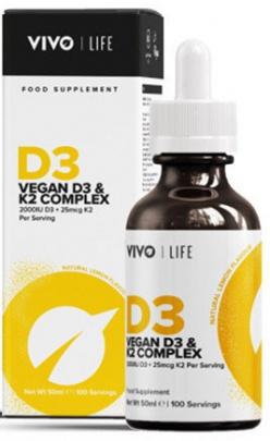 Vivo Life Vegan Vitamin D3 + K2 50ml