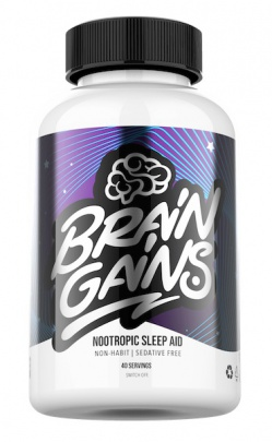 Brain Gains Switch Off Nootropic sleep aid 120 kapslí