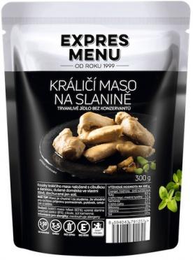 Expres menu Králičí maso na slanině 300g