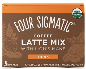 Four Sigmatic Lion's Mane Mushroom Coffee Latte Mix 10x6 g
