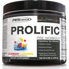 PEScience Prolific Pre-Workout 280g + 2x Select Protein 15,5g US verze snickerdoodle ZDARMA