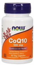 Now Foods Koenzym Q10 100 mg + Hawthorn Berry 30 kapslí
