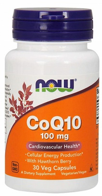 Now Foods Koenzym Q10 mg + Hawthorn Berry 30 kapslí