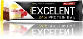 Nutrend Excelent Protein Bar Double 85 g - čokoláda/ nugát s brusinkami PROŠLÉ DMT
