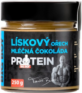 Big Boy Lískoořechový s mléčnou čokoládou a proteinem 250g