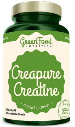 GreenFood Creatine Creapure 120 kapslí