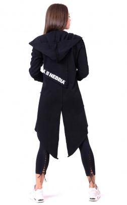 Nebbia Be rebel! Prodloužený kabát 681 black