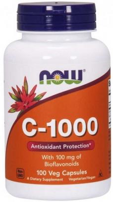 Now Foods Vitamin C 1000 mg 100 rostlinných kapslí