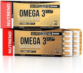 Nutrend Omega 3 Plus Softgel Caps 120 kapslí