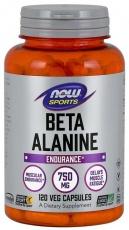 Now Foods Beta Alanine 750 mg 120 rostlinných kapslí