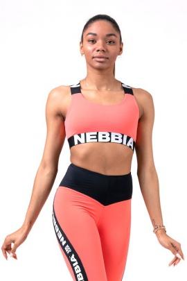 Nebbia Power Your Hero sportovní podprsenka 535 peach