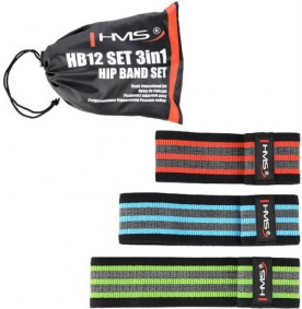 HMS Set Posilovacích gum Hip band (Booty Band) HB12 3v1
