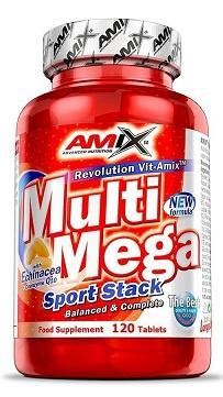 Amix Multi Mega Sport Stack 120 tablet + Vitamin C 500 mg 125 kapslí ZDARMA
