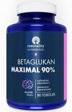 Renovality Betaglukan 90% Maximal s Vitamínem C přírodního původu 90 kapslí