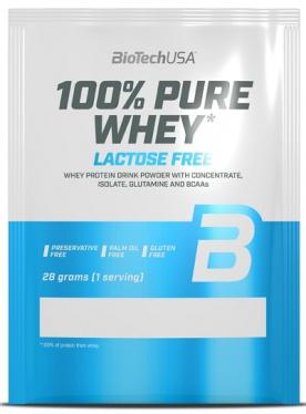 BioTechUSA 100% Pure Whey Lactose Free 28 g