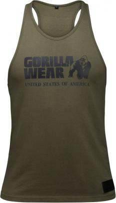 Gorilla Wear Pánské tílko Classic Tank Top Army Green